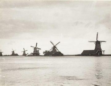 Kalverringdijk omstreeks 1900. Hier is nu de Zaanse Schans (foto: De Zaansche Molen)