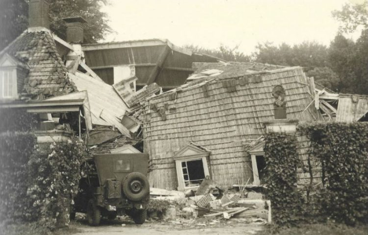 Opgeblazen bouwhuis op De Wiersse - Foto: Omkijkpunt.nl.