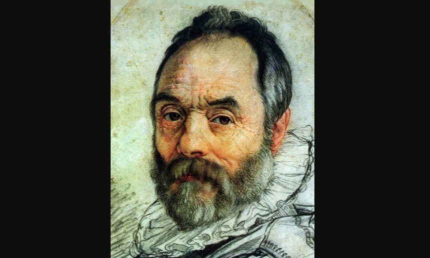 Portret van Giovanni Bologna door Goltzius (detail)