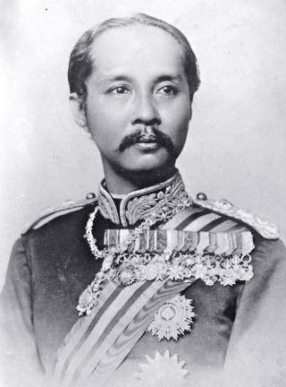 De Siamese koning Rama V van Thailand (1853-1910) - Publiek Domein / wiki / Bains News Service