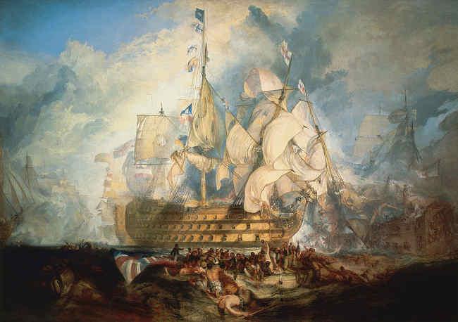 De slag bij Trafalgar