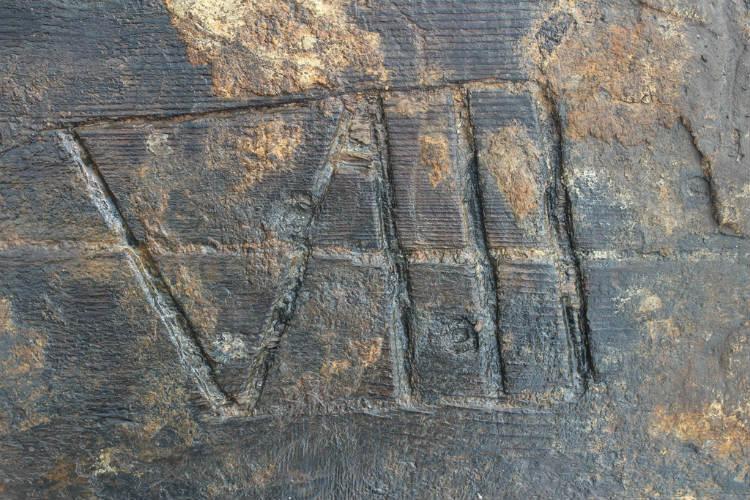 Detail dieptemerk (RUG / gemeente Noordoostpolder)