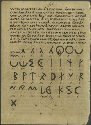 Een bladzijde uit het manuscript van het Oera Linda-Boek (Publiek Domein - wiki)