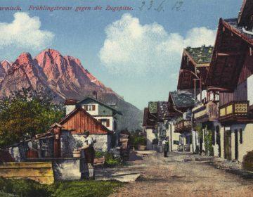 Garmisch-Partenkirchen op een ansichtkaart uit 1912