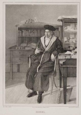 Georg Wilhelm Friedrich Hegel, Lithografie van Ludwig Sebbers (Publiek Domein - wiki)