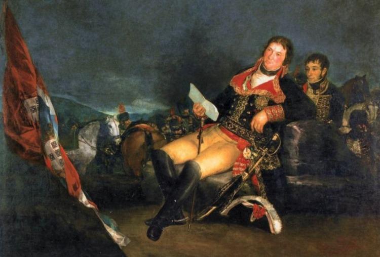 Godoy als overwinnaar van de Guerra de las Naranjas, geschilderd door Goya (1801)