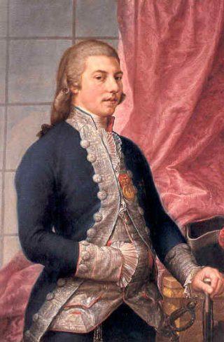 Manuel Godoy in 1790,  geschilderd door Antonio Carnicero (Publiek Domein - wiki)
