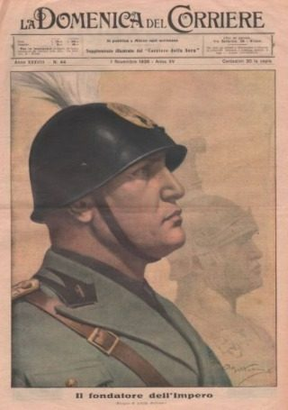 Portret van Beniro Mussolini uit 1936 (Publiek Domein - wiki)