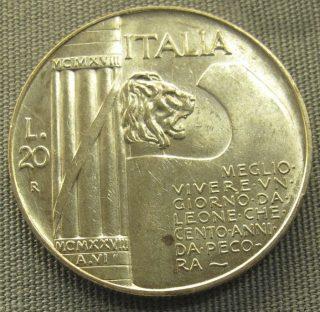 Munt uit de fascistische tijd in Italië (CC BY-SA 3.0 - Sailko - wiki)