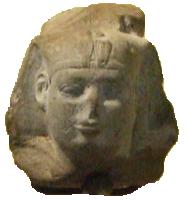 Hoofd van Shabaqo (Shabaka), zoals te zien in het Louvre (Publiek Domein - wiki)