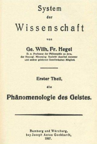 Titelblad van Phänomenologie des Geistes (Publiek Domein - wiki)