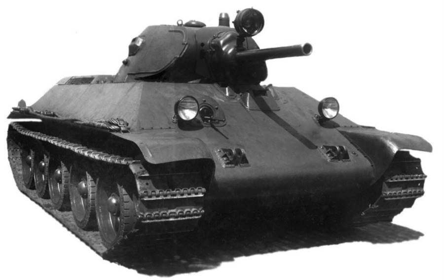 T-34, model 1940 - prototype A-34 (Publiek Domein - Soviet state agencies - wiki)
