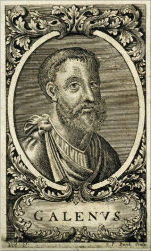 Achttiende-eeuws portret van Claudius Galenus door Georg Paul Busch