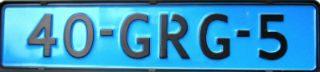 Blauw kenteken (CC BY-SA 3.0 – Dickelbers – wiki)