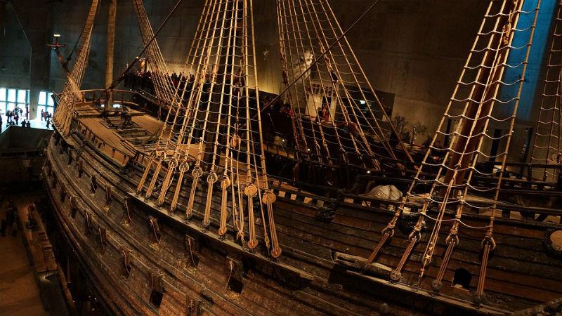 De Vasa in het museum in Stockholm (CC0 - Pixabay - monikawl999)