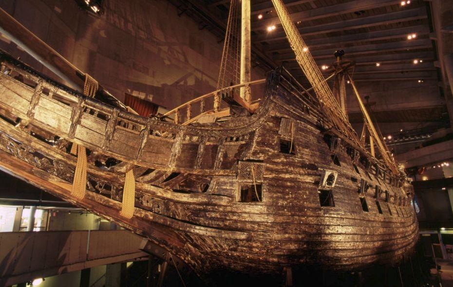 De boeg van de Vasa (CC BY 2.0 - Nick Lott - wiki)