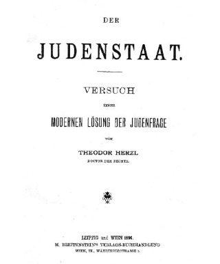 Der Judenstaat - Theodor Herzl