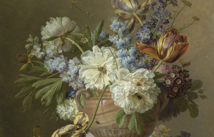 Detail van het bloemstilleven