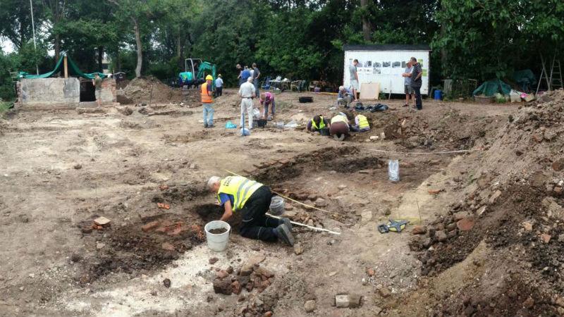Foto gemaakt tijdens de opgraving (Gemeente Stichtse Vecht)