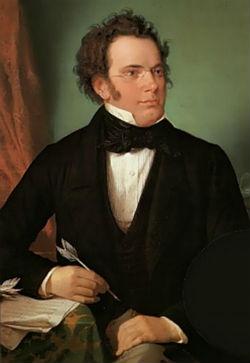 Franz Schubert, portret door Wilhelm August Rieder (1875)