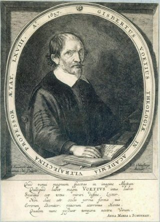 Gisbertus Voetius, ets uit 1657 van A. Santvoort