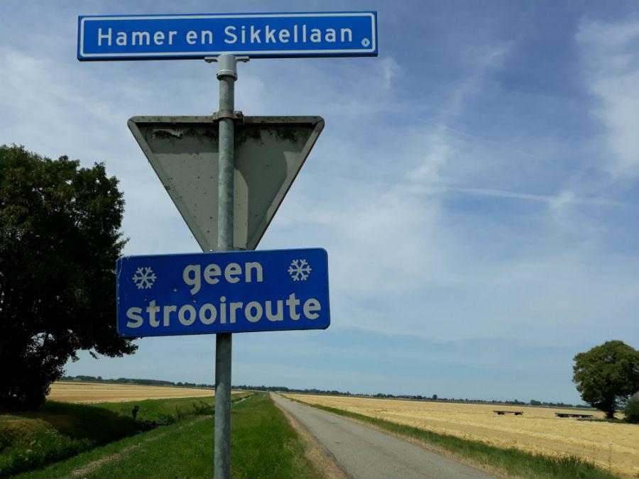 Hamer en Sikkellaan in Finsterwolde, 2018 (Foto Historiek)