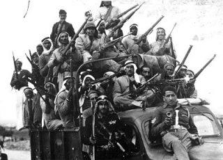 Jihadstrijders tijdens de Arabisch-Israëlische Oorlog (Publiek Domein - wiki)