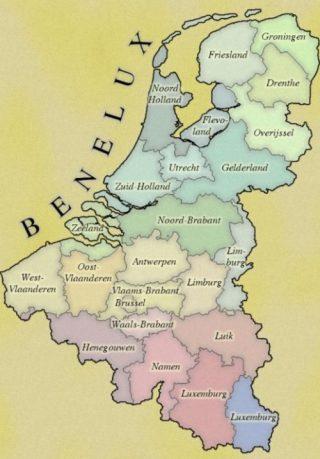 Kaart van de Benelux (CC0 - Manamana)