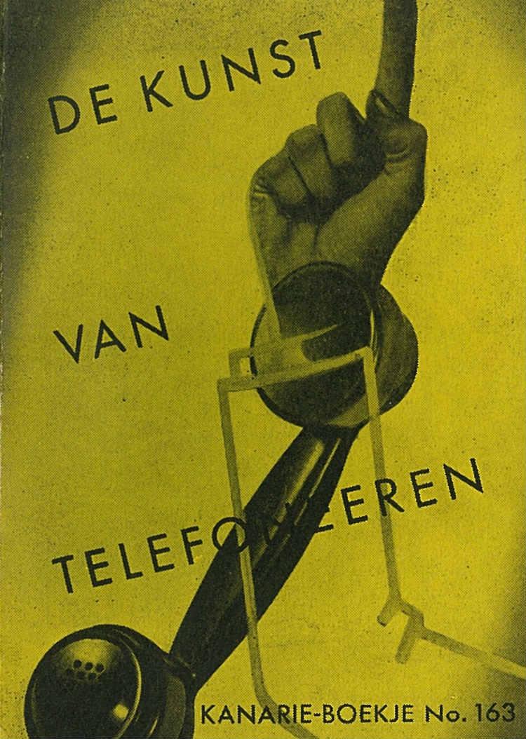 Kanarieboekje 'De kunst van het telefoneren' (Collectie Koninklijke Bibliotheek)