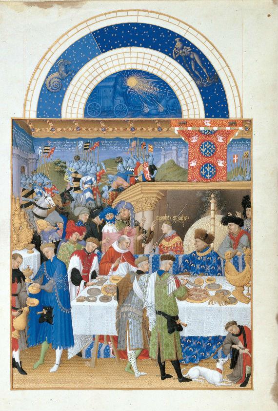 Januariblad uit 'Les Très Riches Heures'