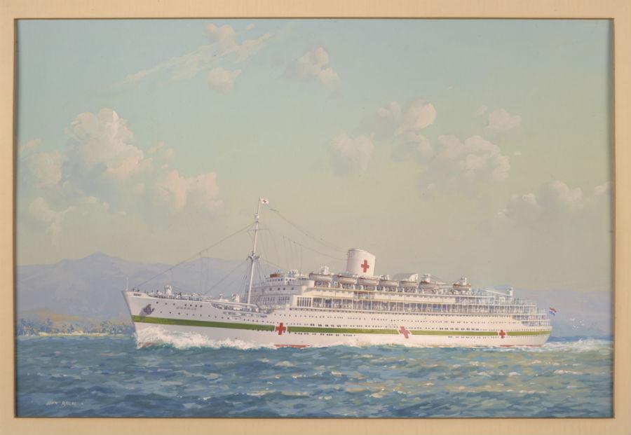 MS Oranje als hospitaalschip (Foto: Scheepvaartmuseum Amsterdam)