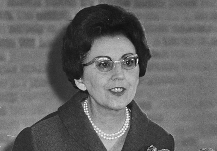 Marguerite De Riemaecker-Legot in 1967 (CC BY-SA 3.0 nl - Rob Kroon / Anefo - wiki)