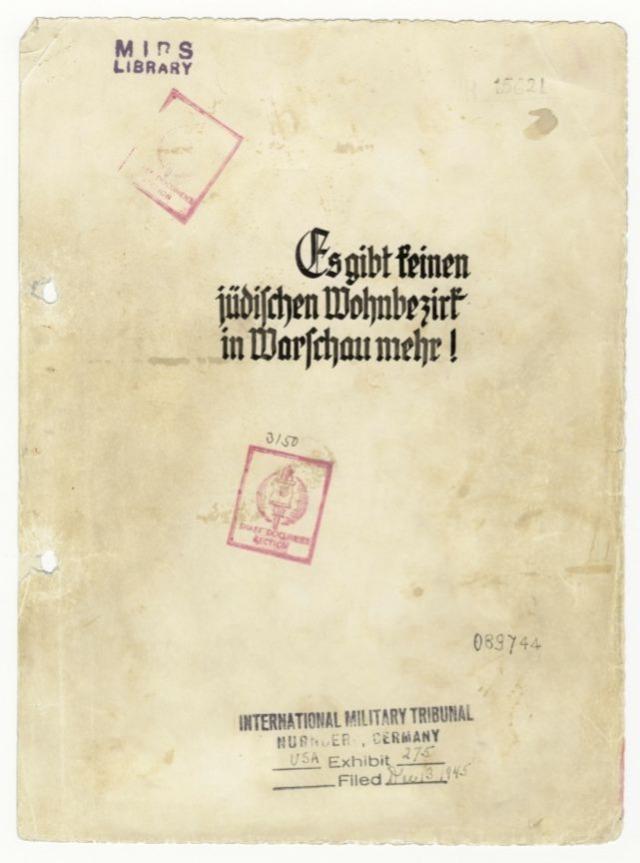 Voorzijde van het rapport van Jürgen Stroop (Publiek Domein - wiki)