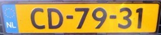 CD-kenteken (CC BY-SA 3.0 – Dickelbers – wiki)
