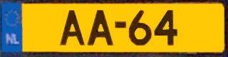 AA-kenteken (CC BY-SA 3.0 – Dickelbers – wiki)