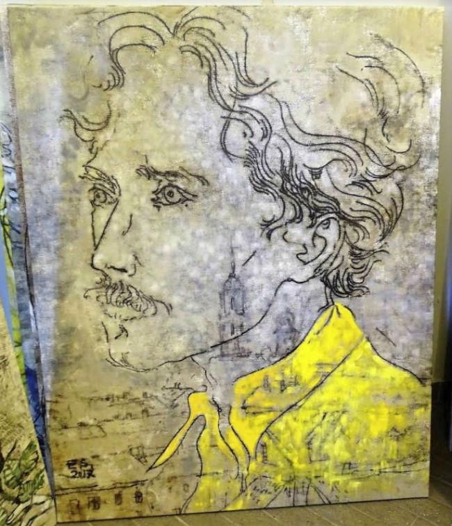 Het portret van Čiurlionis (Foto: Chris Rachel Spatz)
