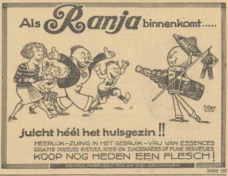 Ranja-reclame in De Maasbode van 19 juli 1928 (Delpher)