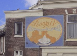 Reclame voor Ranja op een muur in Delft (CC BY-SA 4.0 - VanBuren - wiki)