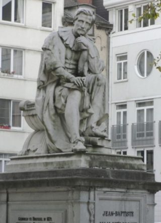 Standbeeld van Johannes Baptista van Helmont in Brussel (CC BY-SA 4.0 - Henxter - wiki)