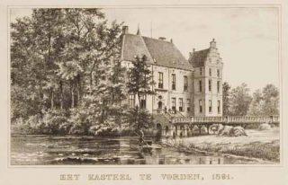 Negentiende-eeuwse prent van Kasteel Vorden (Publiek Domein - wiki)