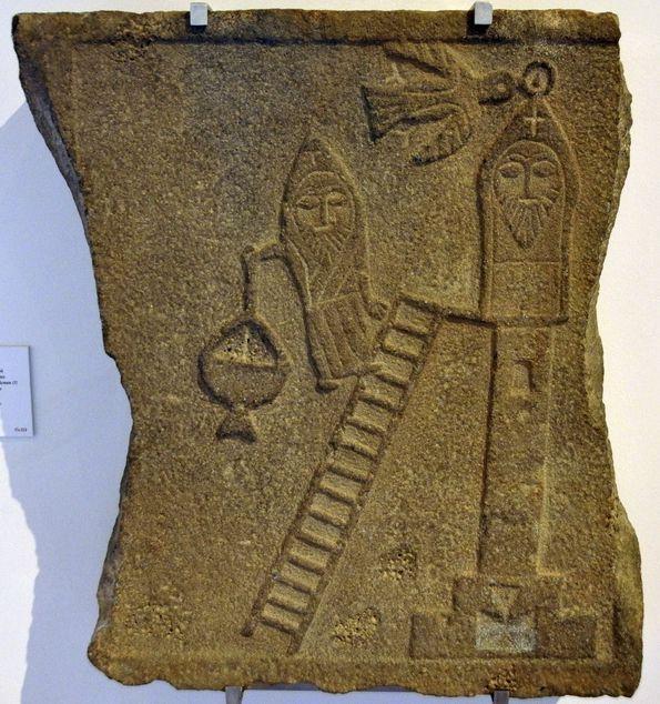 Reliëf, gemaakt in de vijfde eeuw, met een afbeelding van Simeon (Bode-Museum, Berlijn). Ik vind dit een van de mooiste voorwerpen in mijn reeks museumstukken.
