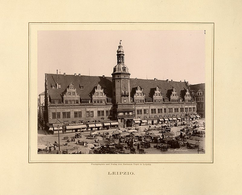 Het raadhuis van Leipzig. CC0 - wiki