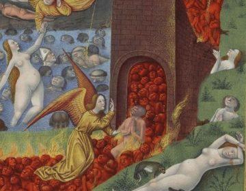 Afbeelding van het vagevuur in de Très Riches Heures du duc de Berry.