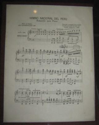 Bladmuziek van het volkslied van Peru (CC BY-SA 3.0 - Murillo Perú - wiki)