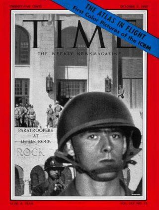 Cover van het magazine TIME (7 oktober 1957)