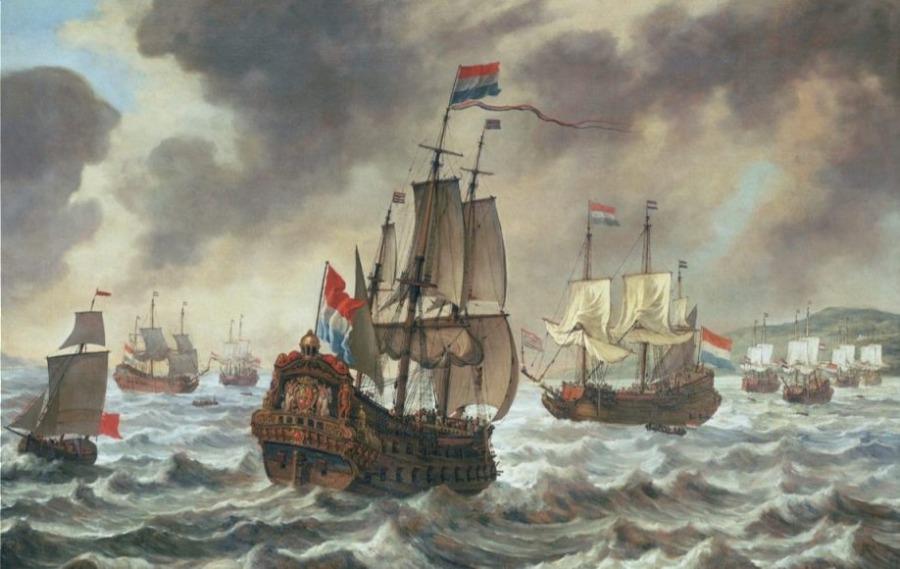 De Staatse vloot bij Duins, Reinier Nooms (Publiek Domein - wiki)