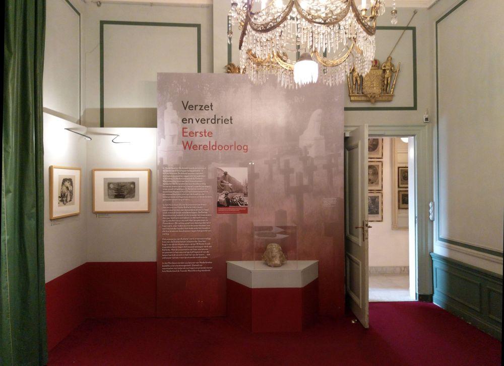 Verzet en verdriet in de Eerste Wereldoorlog: dit deel van de expositie bevindt zich in twee zalen van Huis Doorn. (Foto Kevin Prenger)
