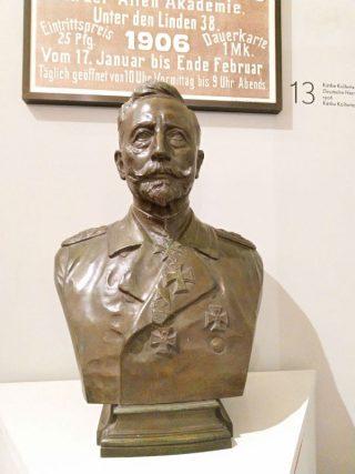 Keizer Wilhelm II, de laatste bewoner van Huis Doorn. Gemaakt in 1918 door Max Bezner. (Foto Kevin Prenger)