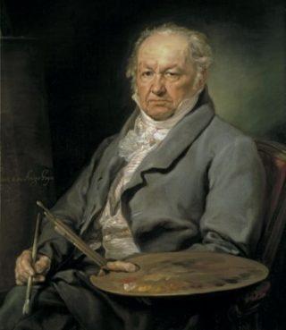 Francisco Goya - Portret door Vicente López (1826)