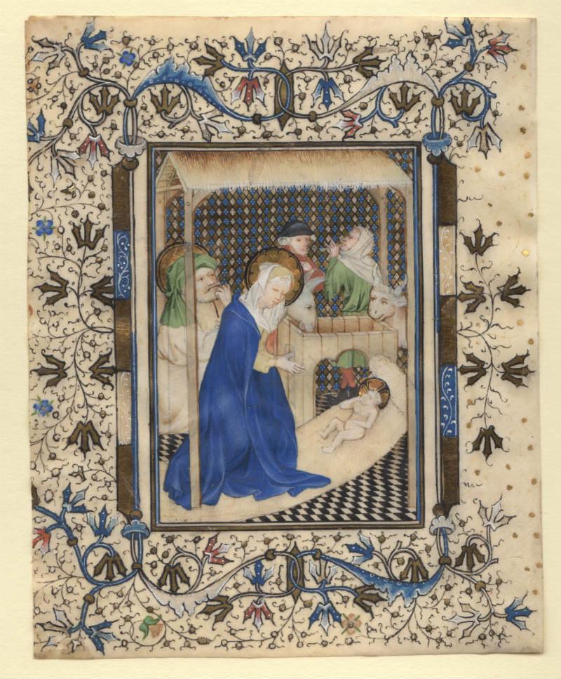 Het ontdekte miniatuur uit dezelfde werkplaats als waar het gebedenboek van Maria van Gelre is gemaakt (Museum Het Valkhof)